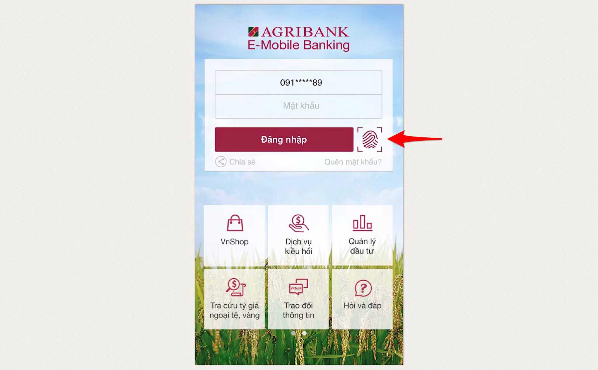 Cách chuyển tiền qua thẻ ATM Agribank bằng điện thoại