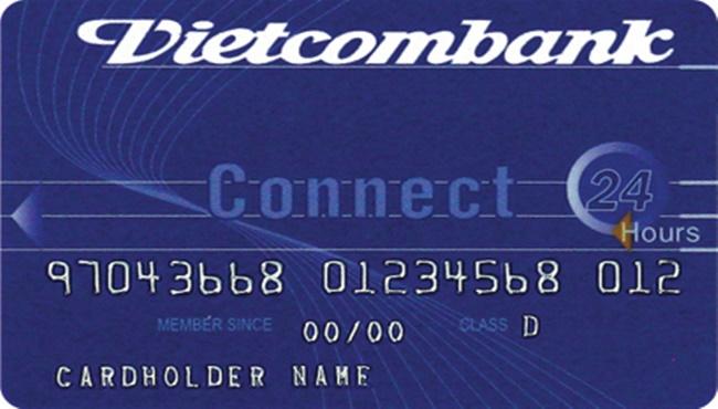 thẻ connect24 visa debit vietcombank